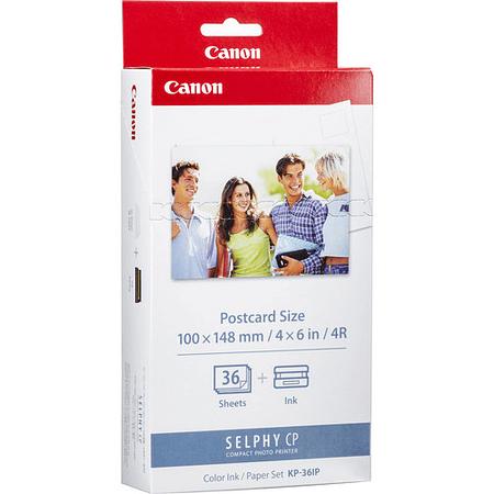Kit papel Fotografico (36) y Cartuchos (1) para Impresora Fotos Selphy CP-1300