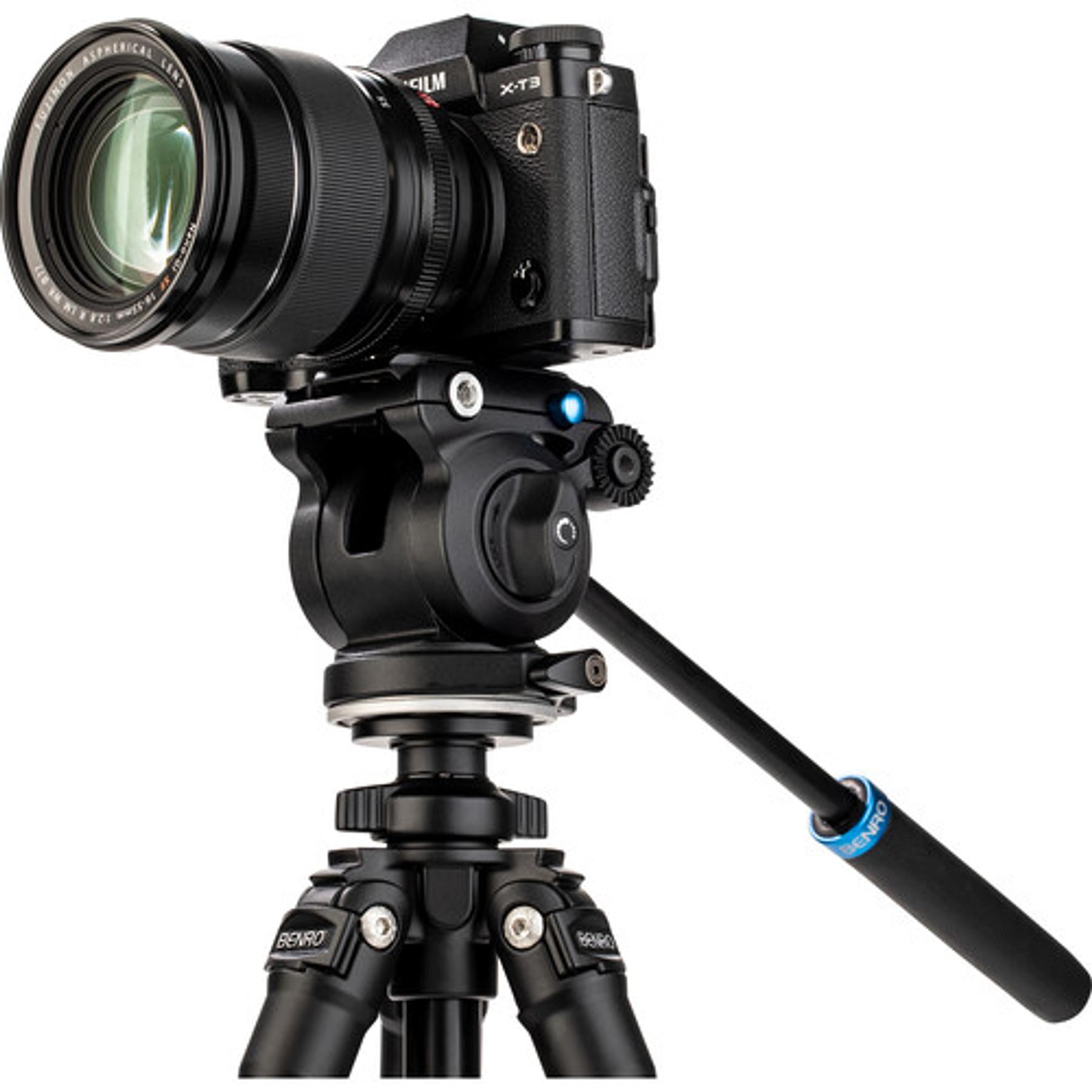 Cabezal de video de base plana Benro S2 PRO