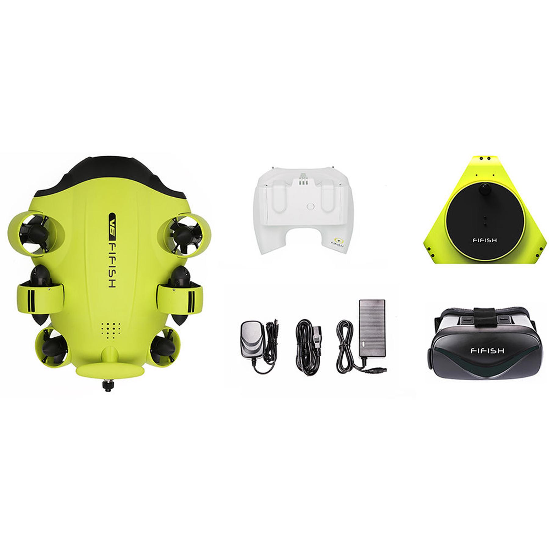ROV (DRONE) SUBMARINO QYSEA FIFISH V6 (100M CABLE Y CONTROL VR). COD#FIFISHV6