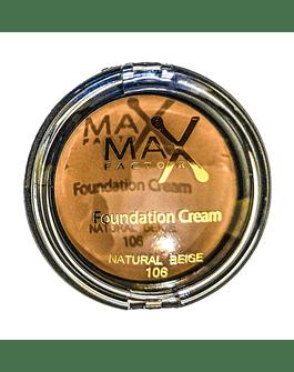 MAX FACTOR FOUNDATION CREAM NATURAL BEIGE N.106 10G   ANNO 2020