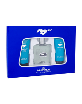 Mustang Mustang Blue EDT 100 ml + balsamo dopobarba 100 ml + gel doccia 100 ml