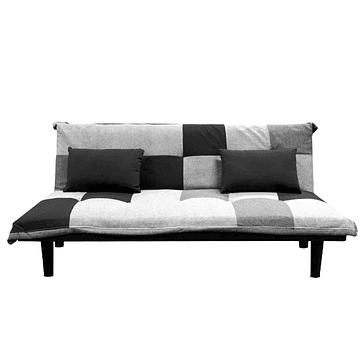Futon Pixel - Negro Gris