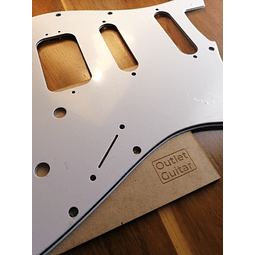 Pickguard Fender strat HSS blanco 3 capas