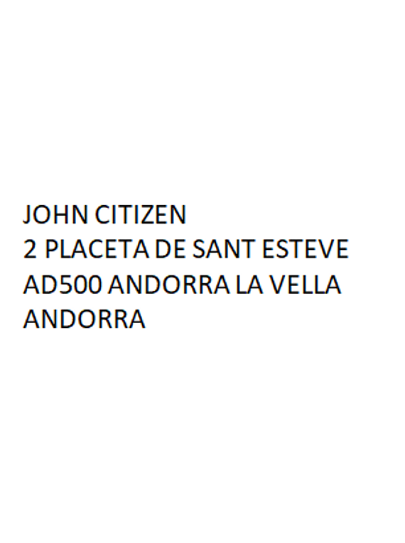 Andorra Andbank bank statement template in Word and PDF format, good for address prove