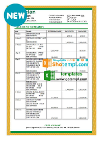 Belgium Crelan bank statement easy to fill template in Excel and PDF format