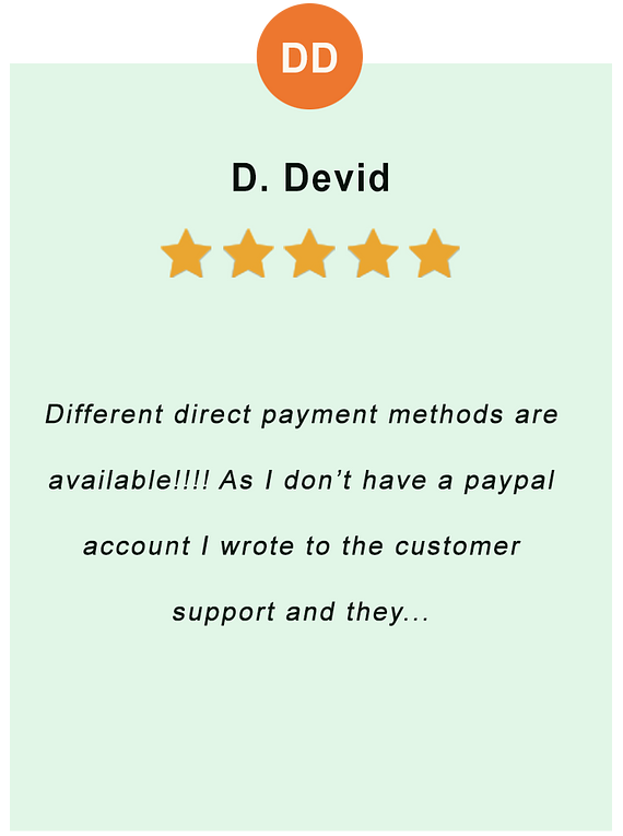 D. Devid - feedback of our valued customer