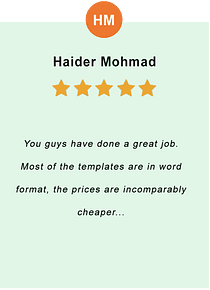 Haider Mohmad - feedback of our valued customer