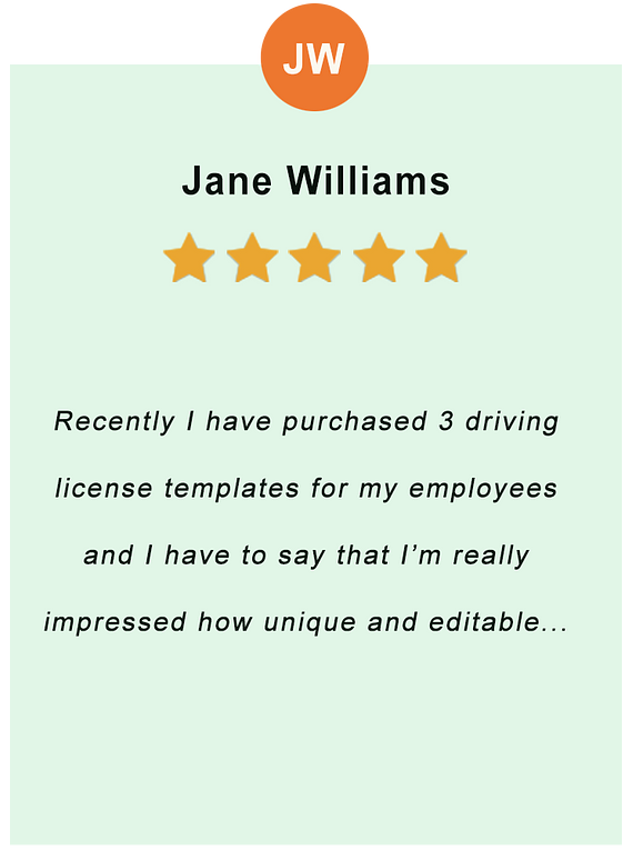 Jane Williams - feedback of our valued customer