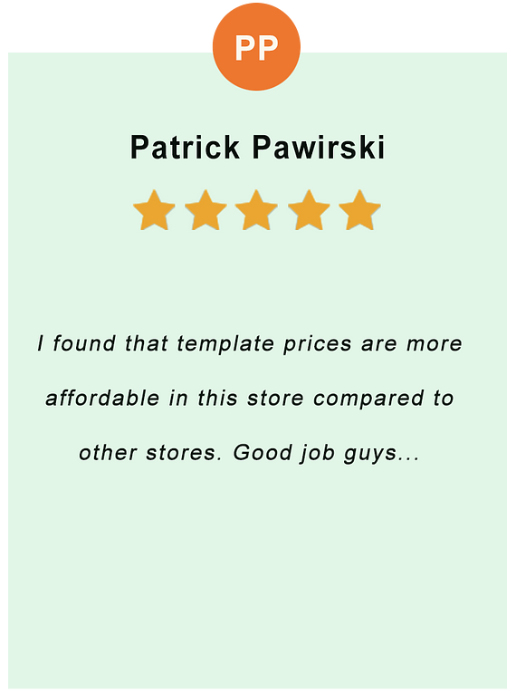 Patrick Pawirski - feedback of our valued customer