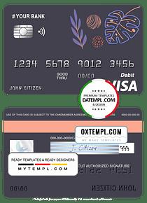 # amaze creative universal multipurpose bank visa credit card template in PSD format, fully editable