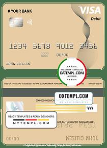 # abstractaza universal multipurpose bank visa credit card template in PSD format, fully editable