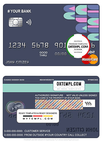 # abstractsio universal multipurpose bank mastercard debit credit card template in PSD format, fully editable