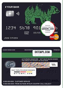 # alpine bear universal multipurpose bank mastercard debit credit card template in PSD format, fully editable