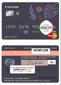 # amaze creative universal multipurpose bank mastercard debit credit card template in PSD format, fully editable