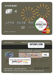 # artsy line universal multipurpose bank mastercard debit credit card template in PSD format, fully editable