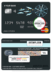 # awesome dreamcatcher universal multipurpose bank mastercard debit credit card template in PSD format, fully editable