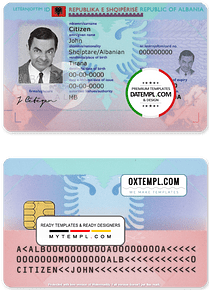 Albania ID template in PSD format