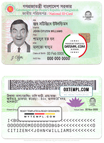 Bangladesh ID template in PSD format, fully editable