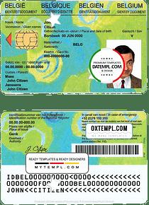 Belgium Kids-ID template in PSD format