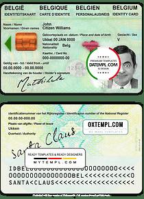 Belgium ID template in PSD format