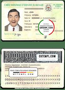 Burkina Faso ID template in PSD format, fully editable