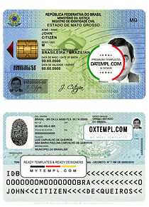 Brazil ID template in PSD format (from 2009)