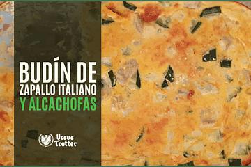 Budín de zapatito italiano y alcachofas