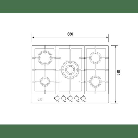Kit empotrable G75.7- Gas Licuado / Horno eléctrico EP7