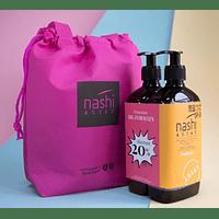 Pack Nashi Shampoo 500ml + Acondicionador 500ml