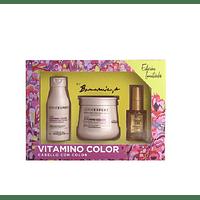 Cofre Vitamino Color Máscara + Shampoo + Aceite