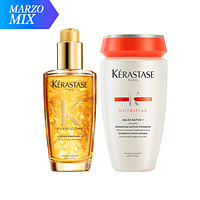 MIX Serum Elixir + Bain Satin 1 KÉRASTASE