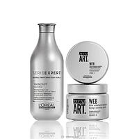 Pack Shampo Silver + Cera Web L'Oréal Professionnel