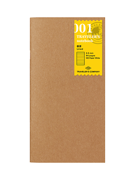 TRAVELER'S Notebook Refill Lineas 001