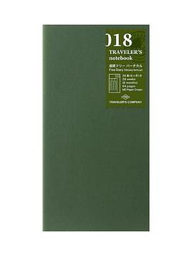 Refill Weekly Free Vertical 018 TRAVELER'S Notebook