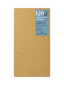 TRAVELER'S Notebook Refill Kraft Paper Folder 020