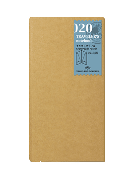TRAVELER'S Notebook Refill Kraft Paper Folder 020