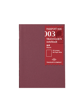 TRAVELER'S Notebook Refill Blanco 003 Passport