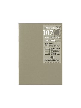 Refill Free Diary Weekly 007 Passport TRAVELER'S Notebook