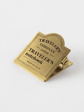 TRAVELER´S Notebook Clip Brass Logo 030