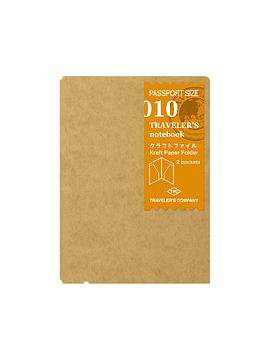 Refill Kraft Paper Folder 010 Passport TRAVELER´S Notebook