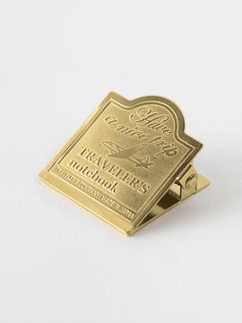 TRAVELER´S Notebook Brass Clip Airplane