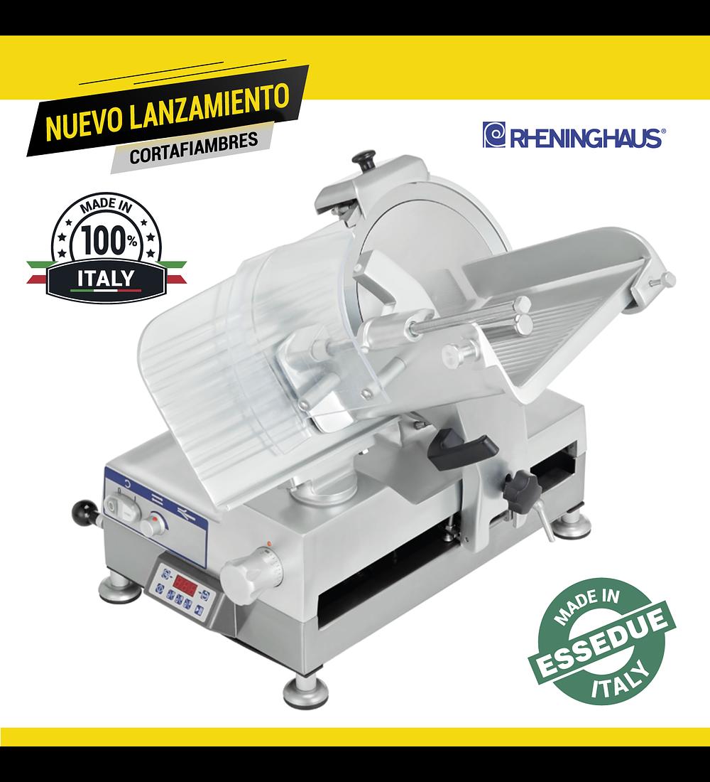 Cortadora de Cecina Ø300 Gravitatoria Automática Profesional RHENINGHAUS® C/ENGRANAJE