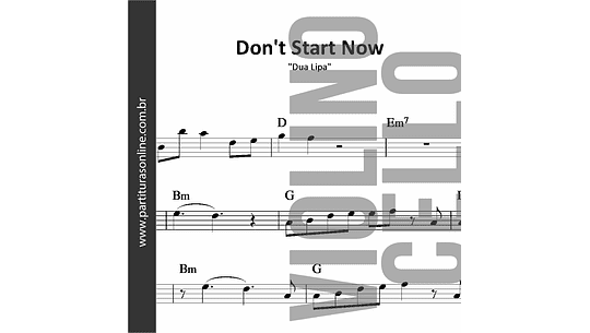 Don't Start Now | Dua Lipa *para Violino e Violoncelo