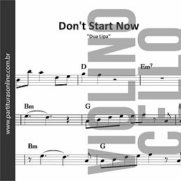 Don't Start Now | Dua Lipa *para Violino e Violoncelo