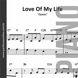 Love of My Life | Queen *para Piano