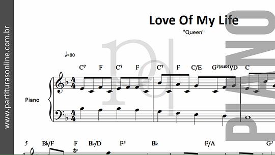 Love of My Life | Queen *para Piano