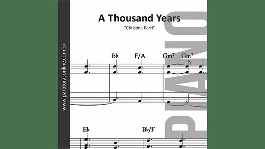 A Thousand Years | Christina Perri * para Piano