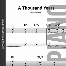 A Thousand Years | Christina Perri * para Piano