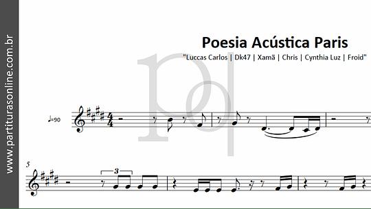 Poesia Acústica Paris | Luccas Carlos | Dk47 | Xamã | Chris | Cynthia Luz | Froid