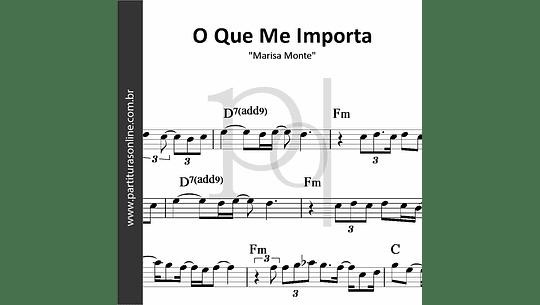O Que Me Importa | Marisa Monte